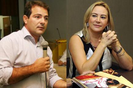O ex-presidente do MT Saúde, Yuri Bastos e a secretária Roseli Barbosa: parentes receberam reembolso